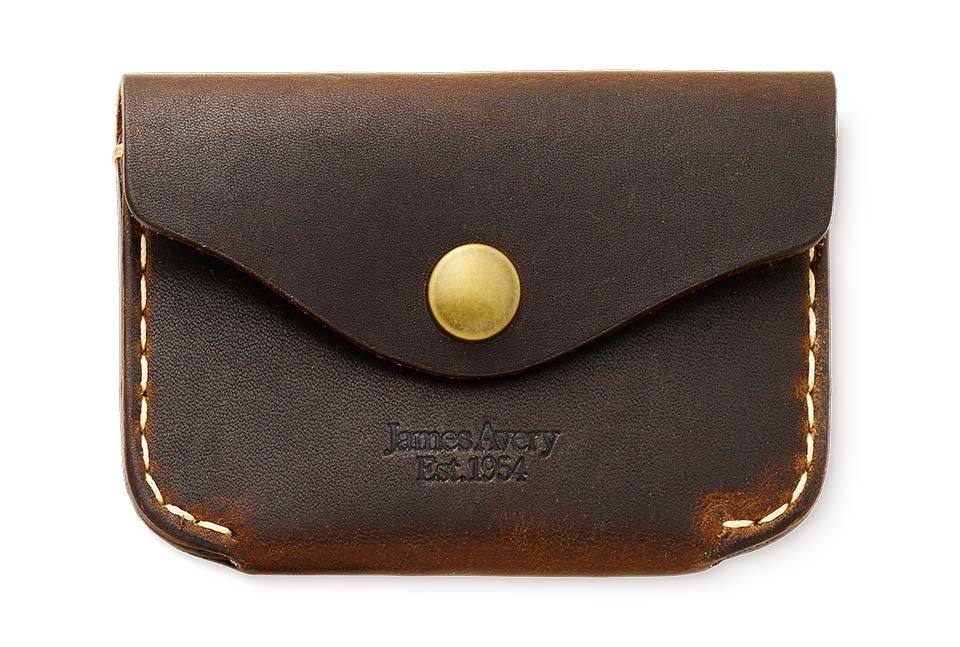 Snap Front Leather Wallet