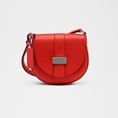 Avery Small Saddle Bag - Red