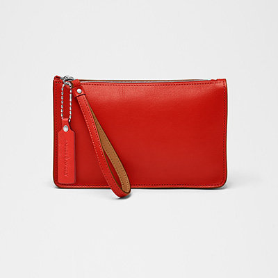 Avery Zip Pouch - Coral