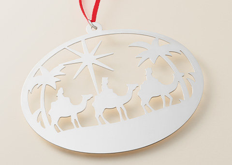 Image features the new sterling silver Three Wise Men Ornament.