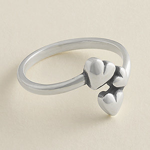 New sterling silver Gathered Hearts Ring.