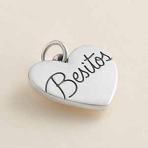 "New sterling silver ""Besitos"" Charm"