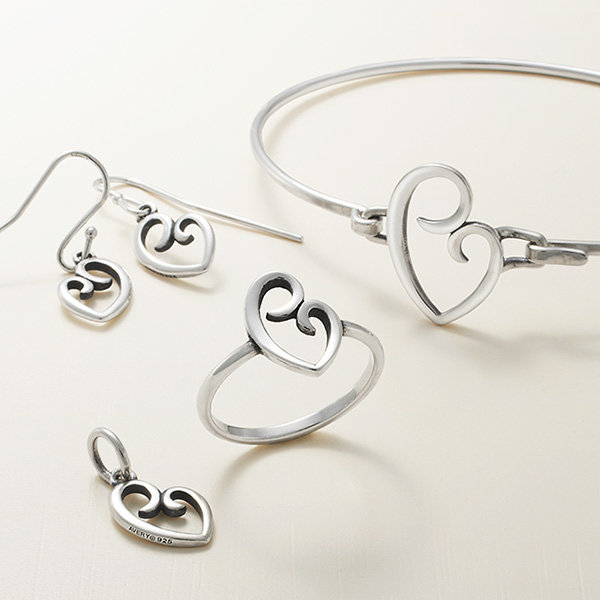 Featuring the Delicate Hearts Collection in sterling silver.