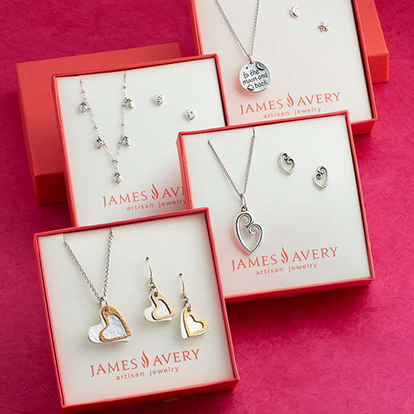 An assortment of necklace and earring gift sets.