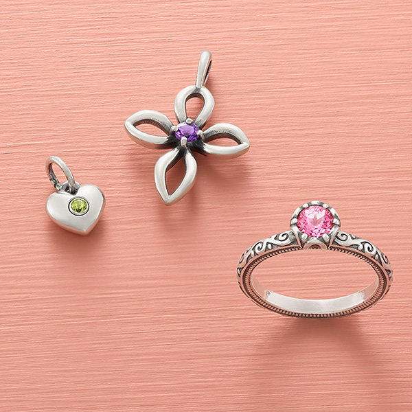 An assortment of colorful gemstone designs.