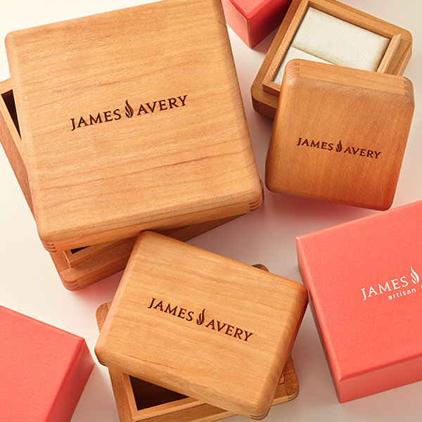 An assortment of heritage wooden gift boxes.