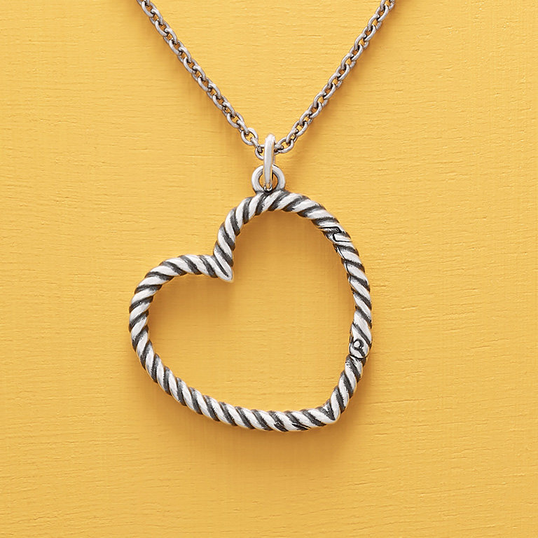 The Changeable Heart Charm Holder Necklace