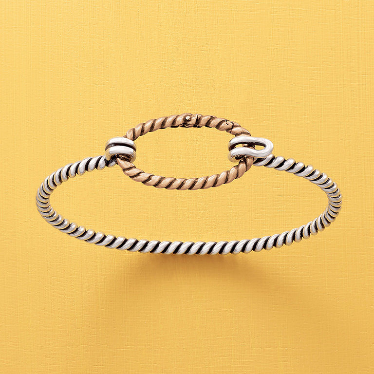 The Changeable Twisted Wire Hook-On Bracelet