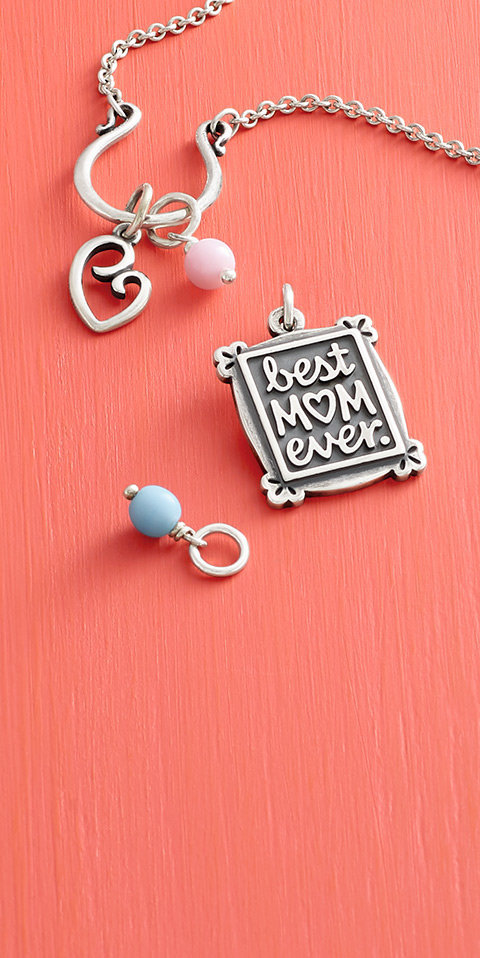 An assortment of mom-themed charms.