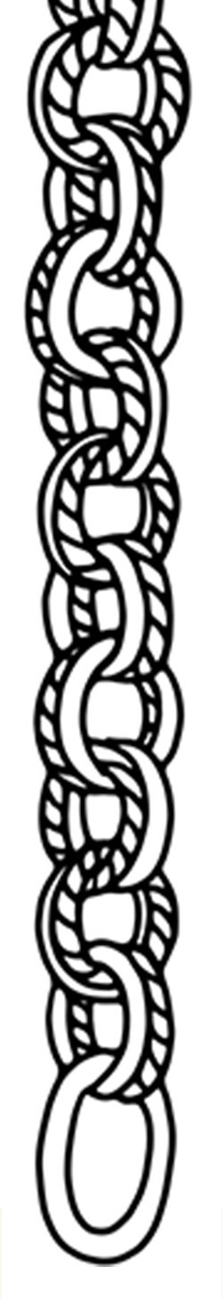 Sketch of Twisted Wire Double Link chain