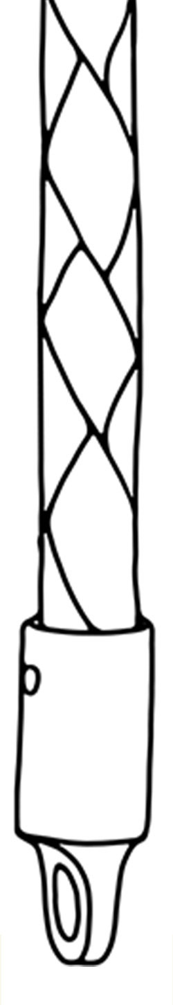 Sketch of Braided Leather Necklace chain