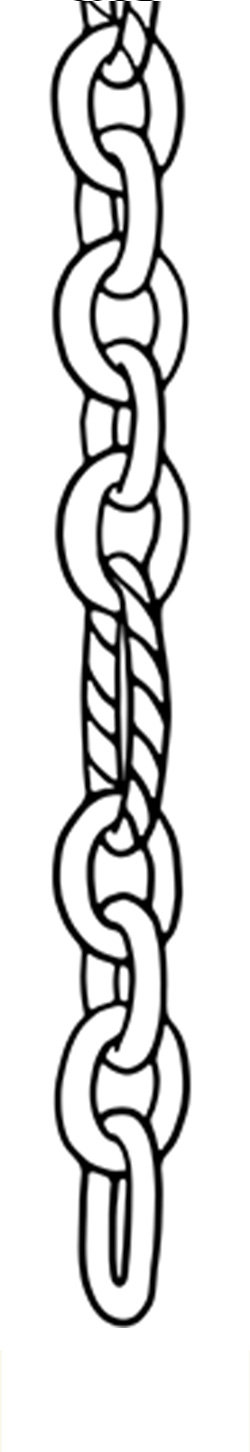 Sketch of Medium Cable Figaro chain